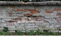 photo texture of wall brick damaged